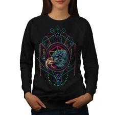 Wellcoda Eagle Indian Womens Sweatshirt, BIrd Animal Casual Pullover Jumper