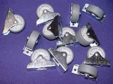 12 Kastenrollen Bettkastenräder Bettkastenrolle Ø 50mm 51mm hoch Gummi weich