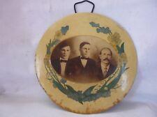Antique Oval Metal Photo Frame