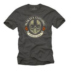 Biker Skull T-shirt avec Motocross Casque Hommes Taille S-XXL