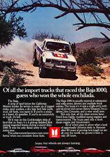 1984 Isuzu Pickup Truck Baja 1000 -  Classic Vintage Advertisement Ad A67-B
