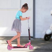 Kick Scooter for Kids Child Deluxe Aluminum 2 Wheel Glider w/ Led Light Up Wheel
