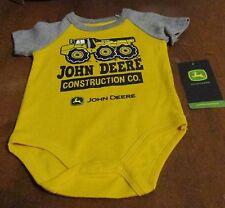 John Deere boy's one-piece yellow w/gray sleeves 'JOHN DEERE CONSTRUCTION'