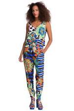 DESIGUAL par l pantalon marite combinaison 26-30 8-12 prix de vente conseillé 104 tropical print vacances