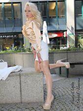 Lederrock Leder Rock Weiß Mini Hüftrock Größe 32 - 58 XS - XXXL