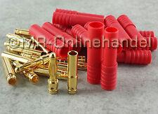 4mm HXT Gold Stecker Goldstecker + Buchsen + Gehäuse, bis 93A Lipo Akku
