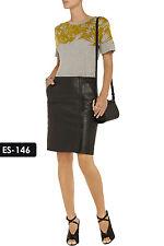 Leather Skirt - Genuine Soft Leather Snake-Effect Skirt