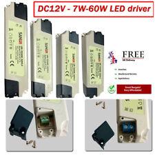 DC 12V máxima calidad LED Driver transformador de fuente de alimentación 7w 12w 15w 35w 60w Reino Unido