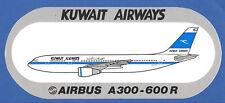 Airbus A300-600R Kuwait Airways Label Sticker