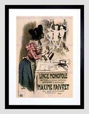 Annuncio MAXIME faivret Bucato Biancheria Paris France Nero Framed Art Print b12x4212