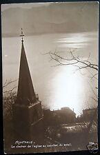 Switzerland~ MONTREUX~Clocher Eglise~PERROCHET RPPC