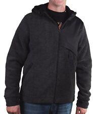 Bench Plough Hoody Solid Black Hooded Sweater w Fleece Lining