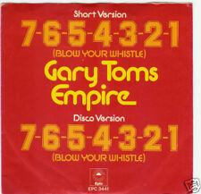 45 TOURS--GARY TOMS EMPIRE--7-6-5-4-3-2-1 --1975