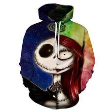 The Nightmare Before Christmas Sally Jack Skellington 3D Hoodie Sweatshirt S-6XL