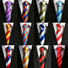 13 COLOR Classic Men's 100% Silk Tie Necktie Wide Striped JACQUARD Neck Ties