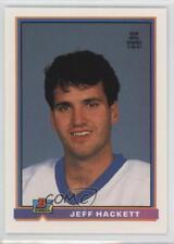 1991-92 Bowman #219 Jeff Hackett New York Islanders Hockey Card