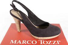 Marco Tozzi Mujer HONDA / sandalia, negro, óptica de ante, suela cuero, NUEVO