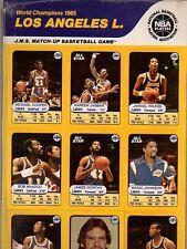 1985 JMS Lakers mint sealed uncut card set~Magic Johnson~Kareem Abdul-Jabbar~++