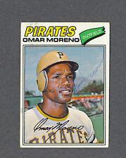 Omar Moreno signed Pittsburgh Pirates 1977 Topps baseball card