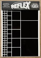 3M Scotchlite Reflective Reflex A4 Sticker Pack Squares Black White (Bike Car)