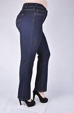 NWT WOMEN PLUS SIZE TALL LENGTH DARK INDIGO STRETCH DENIM BOOT LEG JEANS  WG-073