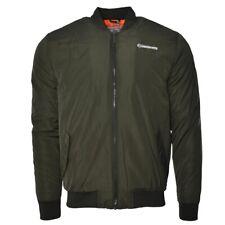 Lambretta Mens Padded MA1 Bomber Jacket With Sleeve Badge-Khaki-All Sizes