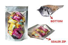 Reusable Foil Stand up Zip Lock Grip Seal Bag/Aluminum Foil Ziplock Bag 18x26 cm