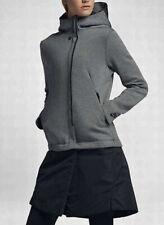 NIKE Sportswear Grey Black Tech Fleece Hooded Jacket NEW Tall Womens XLT