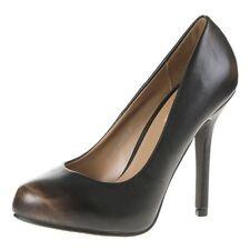 Damenschuhe Schuhe Pumps Absatzschuhe Braun in Leder Optik  [BJ 4]