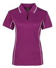 Jb's wear Podium Teamwear Ladies Piping Polo Shirt 1-Button Design Cool Fabric