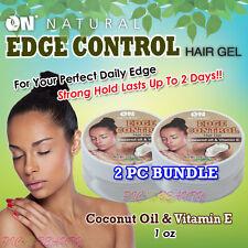 ON NATURAL Edge Control Hair Gel 1 oz. [Coconut Oil & Vitamin E]  <2 PC BUNDLE>