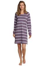 Schiesser Mujer Camisón 90cm Vestido Dormir Manga Larga M L Xl Xxl 3xl 4xl