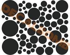 "POLKA DOT Wall Decals / stickers - 10 - 11"" polka dots"