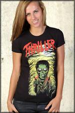 MonsterVision Thriller Zombie Michael Jackson Parody Art Womens T-Shirt Black