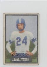 1951 Topps Magic #58 Dave Waters Washington & Lee Generals RC Football Card