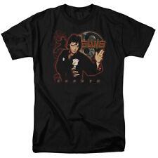 Elvis Presley The King Rock Karate Adult T-Shirt Tee