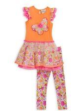 RARE EDITIONS® 2T Butterfly Tutu Dress & Leggings Set NWT