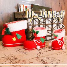 Boots Socks Candy For Kids Winter Christmas Xmas Santa Flocking Decor Gift Bag Z