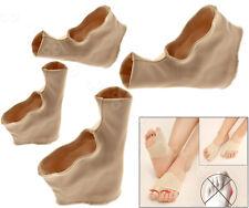 2x Fabric Gel Toe Bunion Pad Protector Sleeves Hallux Valgus Corrector 2 Size