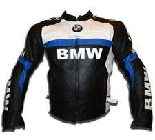 BMW Hombres Deportes Carreras Motocicleta Cowhide Cuero Biker Chaqueta ES