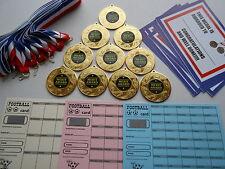 MERIT AWARD MEDALS X 10 METAL/50MM /GOLD -SILVER OR BRONZE/ CERTIFICATES