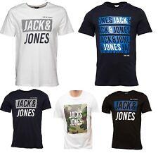 Genuine MENS JACK and JONES Designer T-shirts 100% Cotton 100% Original  Sz S-XL