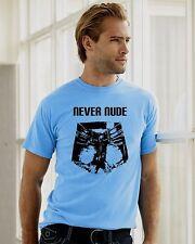 Arrested Development Light Blue never Nude tee shirt tshirt funny man men Tobias