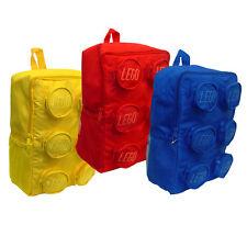 Lego Brick Shape Backpack (Choose from Red or Blue Back Packs)