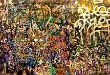 Framed Canvas print  Street  graffiti mural wall decor  art painting