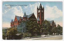 Central High School East Liverpool Ohio 1916 postcard