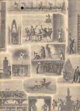 Theater-Geheimnisse/Hinter den Kulissen. Holzstich 1887