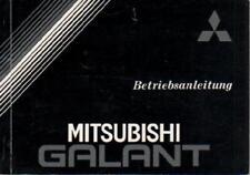 MITSUBISHI GALANT 5  Betriebsanleitung 1987 Bedienungsanleitung Handbuch BA