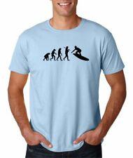 Hot4TShirts Evolution of Man Surf Surfing Board Beach T-Shirt For Men