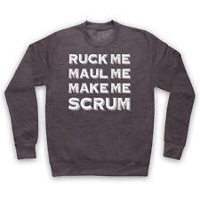 RUCK ME MAUL ME MAKE ME SCRUM FUNNY RUGBY SLOGAN SPORTS ADULTS KIDS SWEATSHIRT
